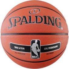 Spalding NBA SILVER OUTDOOR Basketball orange