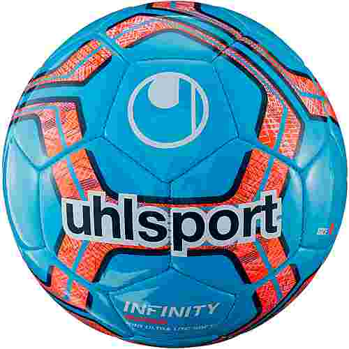 Uhlsport INFINITY 290 ULTRA LITE SOFT Fußball cyan/navy/fluo red