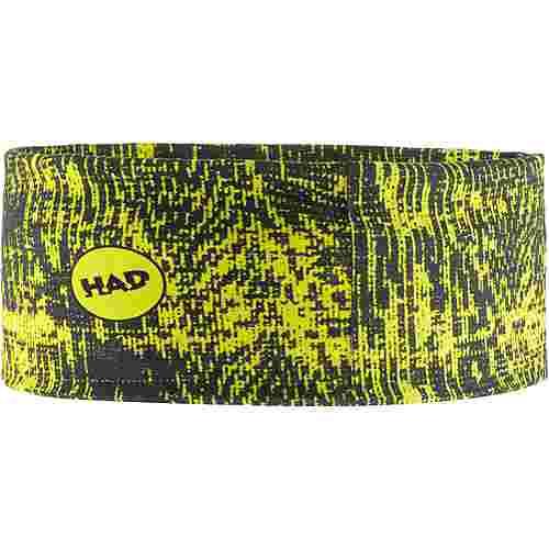 H.A.D. Coolmax Stirnband schwarz/gelb
