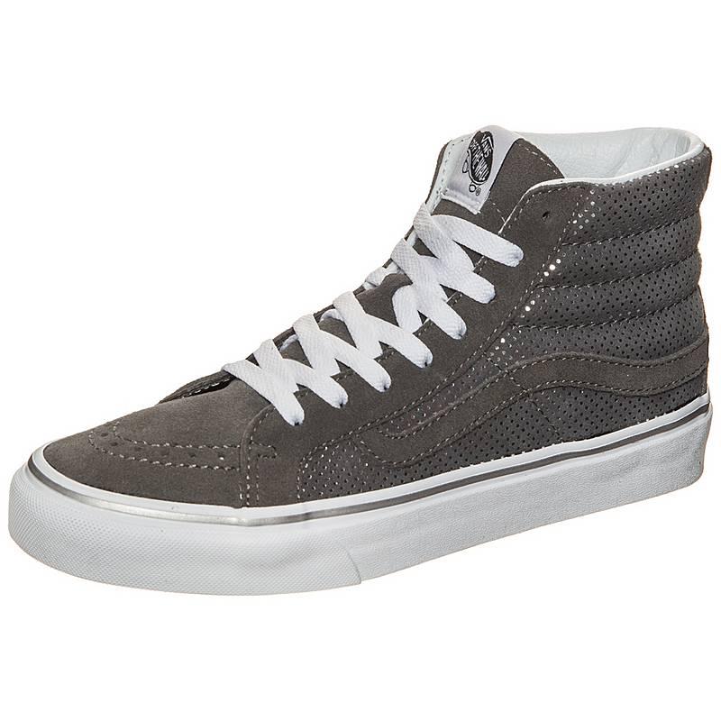 Grau Hi Dots Damen Sneaker Metallic Weiß Slim Im Vans Sk8 Silber TF1Jul53Kc
