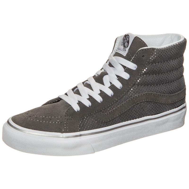 Vans Sk8-Hi Slim Sneaker Damen, grau, grau / weiß