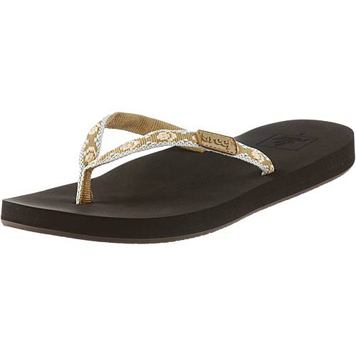 Reef Ginger Zehensandalen Damen braun/allover