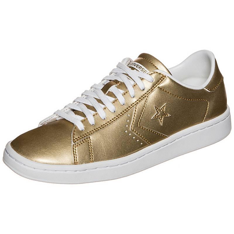 0d657492465f3a CONVERSE Pro Leather LP Metallic Sneaker Damen gold   weiß im Online ...