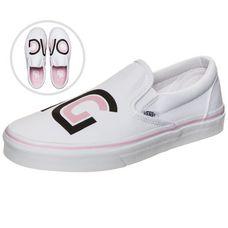 Vans Classic Slip-On Sayings Sneaker Damen weiß / rosa