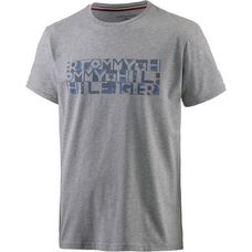 Tommy Hilfiger Watercolor Printshirt Herren grey heather
