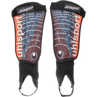 Uhlsport FLEX PLATE Schienbeinschoner black/orange/cyan/anthra