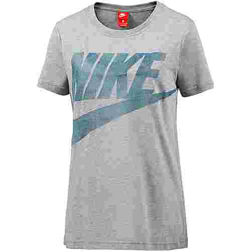 Nike Glacier T-Shirt Damen CARBON HEATHER/SPACE BLUE/ICED JADE