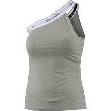 Calvin Klein One Shoulder Top Damen graumelange