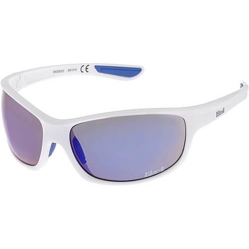 Maui Wowie W8306/03 Sonnenbrille Shiny white/dark blue rubber