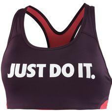 Nike Pro Classic Swoosh Cooling Sport-BH Damen PORT WINE/LT FUSION RED/WHITE