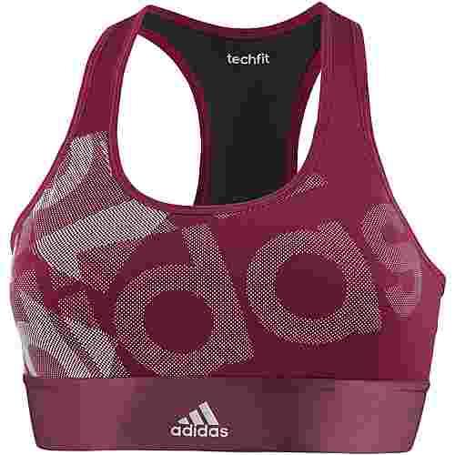 adidas Techfit Sport-BH Damen mystery ruby