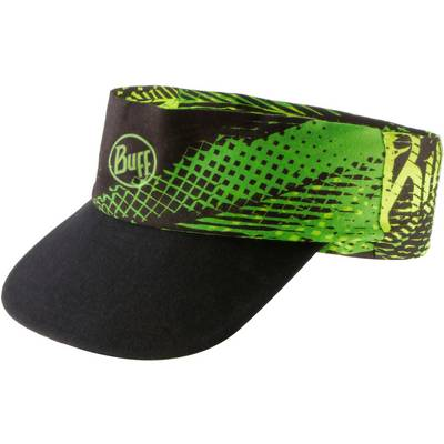 BUFF Pack Run Visor Cap schwarz/grün