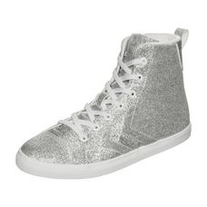 hummel Strada Glitter JR Sneaker Kinder silber / weiß