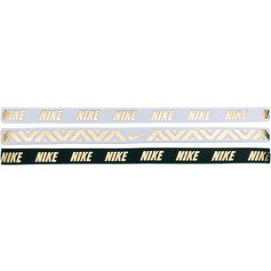 Nike Metallic Haarband Damen WHITE/WHITE/BLACK
