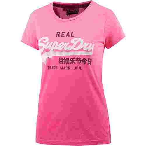 Superdry T-Shirt Damen pink