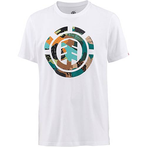 Element Cut Out Icon Printshirt Herren weiß