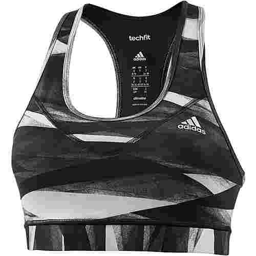 adidas Techfit Sport-BH Damen schwarz-grau
