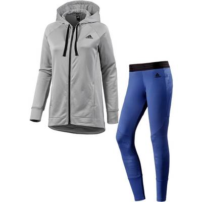 adidas Trainingsanzug Damen medium grey heather