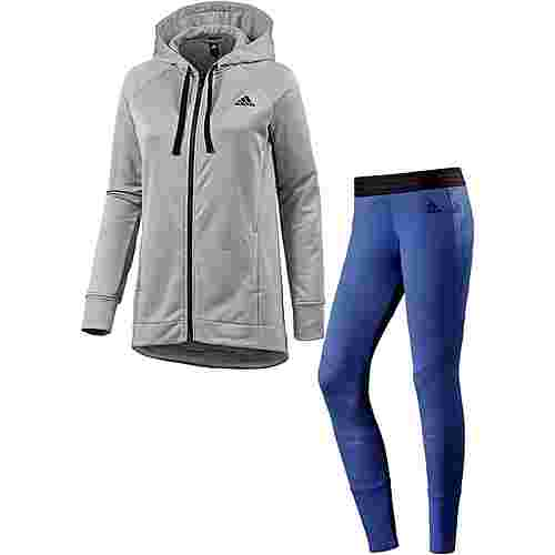 adidas Trainingsanzug Damen medium grey heather
