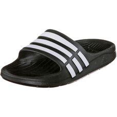 adidas Duramo Slide Pantoletten Kinder schwarz/weiß