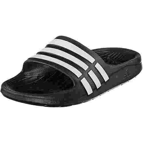 adidas Duramo Slide Badelatschen Kinder schwarz/weiß