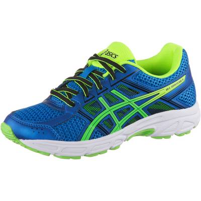 ASICS Contend Laufschuhe Kinder directoire blue/green gecko/safety yellow