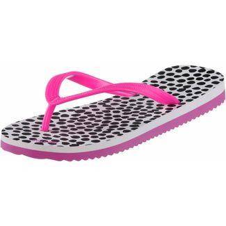 Flip Flop Flip Dots Zehentrenner Damen weiß/pink