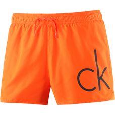 Calvin Klein Core Neon Placed Logo Badeshorts Herren orange