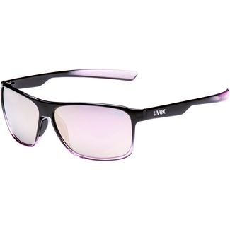 Uvex lgl 33 pola Sonnenbrille black purple-mirror pink