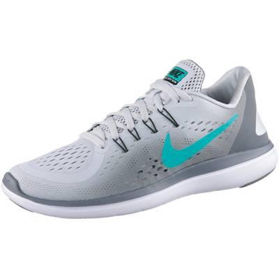 Nike FLEX 2017 RN Laufschuhe Damen pure platinum/clear jade-cool