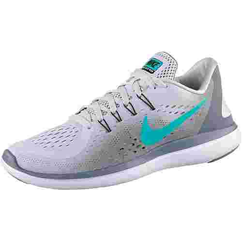 Nike FLEX 2017 RN Laufschuhe Damen pure platinum/clear jade-cool