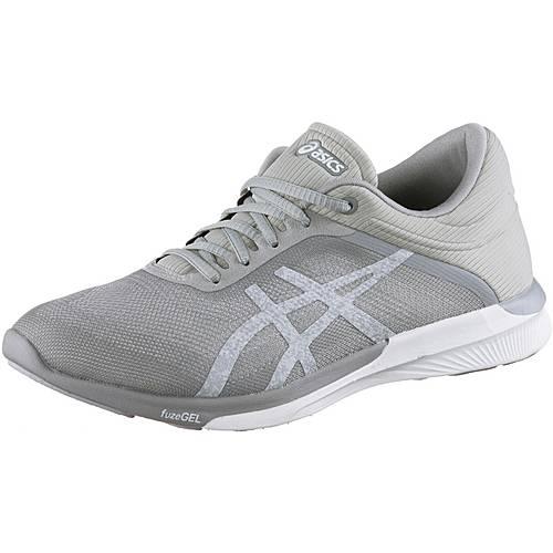 ASICS FUZEX RUSH Laufschuhe Damen white/silver/mid grey