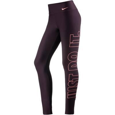 Nike Power Tights Damen PORT WINE/SUNBLUSH