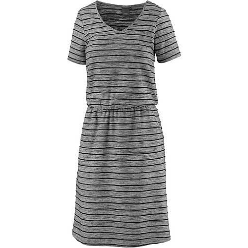 Ichi Kurzarmkleid Damen grau/schwarz