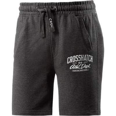 Crosshatch Shorts Herren anthrazit melange