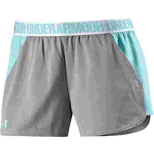Under Armour Play Up Funktionsshorts Damen TRUE GRAY HEATHER/BLUE INFINITY/BLUE INFINITY