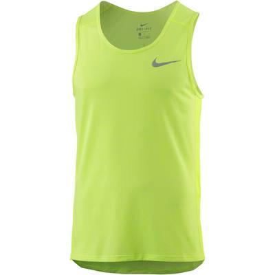 Nike Breathe Miler Laufshirt Herren gelb