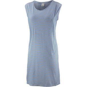 Ichi Kurzarmkleid Damen blau/weiß