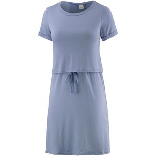 Ichi Kurzarmkleid Damen blaugrau