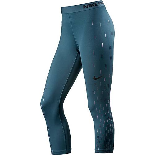 Nike Pro Dry Fit Tights Damen SPACE BLUE/BLACK