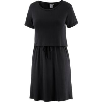 Ichi Kurzarmkleid Damen schwarz