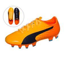 PUMA evoSPEED 17 SL S Fußballschuhe Kinder orange / dunkelblau