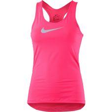 Nike Pro Dry Fit Funktionstop Damen neonpink/weiß
