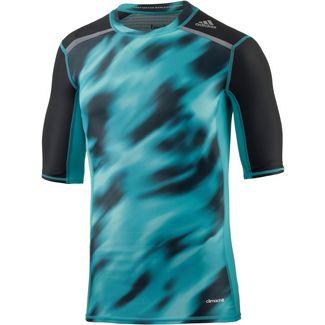 adidas Techfit Kompressionsshirt Herren blau/schwarz