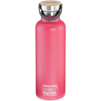 360° degrees Vacuum insulated Isolierflasche pink