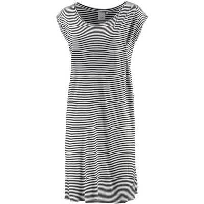 Ichi Kurzarmkleid Damen schwarz/weiß