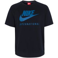 Nike International Crew T-Shirt Herren schwarz / türkis