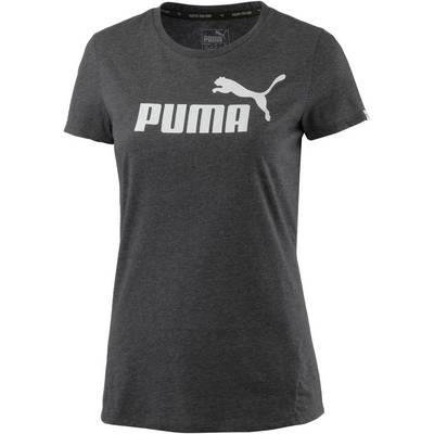 PUMA Essential No. 1 Tee Printshirt Damen DARK GRAY HEATHER