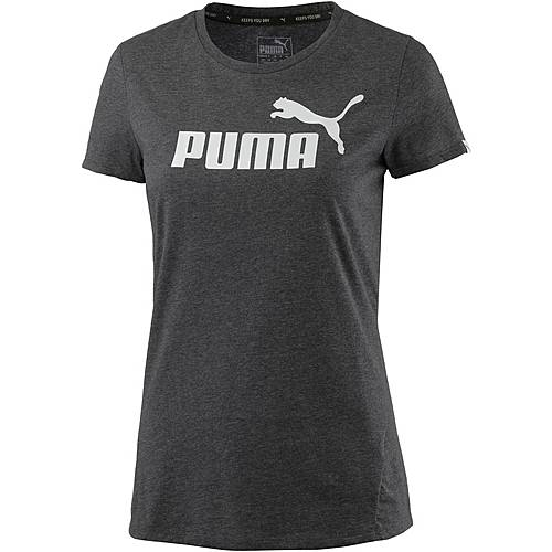 PUMA Essential No. 1 Tee Printshirt Damen DARK GRAY HEATHER