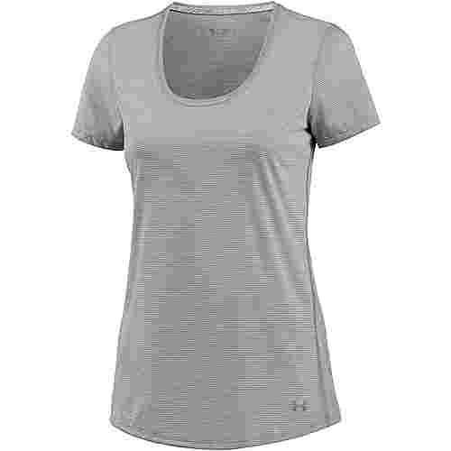 Under Armour Threadborne Streaker Laufshirt Damen TRUE GRAY HEATHER/REFLECTIVE